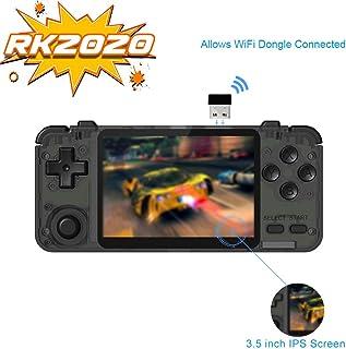 Fangteke Consolas de Juegos Portátiles Rk N64 Arcade Nostalgia Retro 3.5 Consola Portátil de Juegos Hd de Pulgadas con Pan...