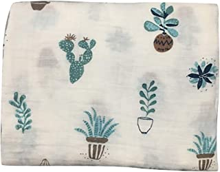 Swaddle Blankets for Boys and Infant Newborn Girls, Multipurpose Use for Warm Sleeping Bath (Cactus)