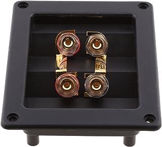 D DOLITY DIY 4-Way Speaker Box Terminal Binding Post Screw Cup Connector