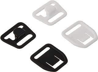 Dritz 56698-12-66 Maternity Bra Clips, 1/2-Inch, White & Black, 4 Sets