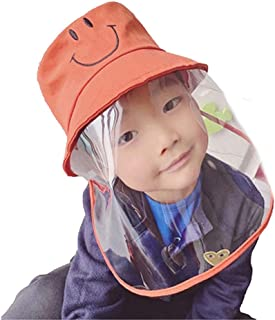 Kids Protective Hat Full Face Shield Fisherman Hat for Children, Safety Cover Windproof Dustproof Face Protection Isolation Mask Anti UV Sun Cap