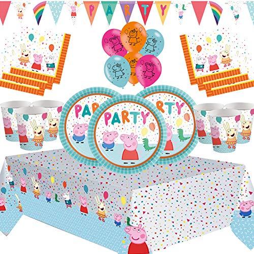 Nuovi Accessori per Feste Peppa Kit per Feste di Compleanno per Bambini Decorazioni da tavola di Alta qualità - per 16 Persone