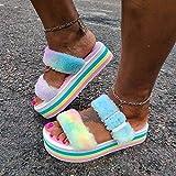 YANSHOU Hombres y Damas Caliente Zapatillas de Espuma,Zapatos de Plataforma de Lana con Plataforma, Zapatillas de Lana de Playa con Punta Abierta-Color_35,Zapatillas de Lana de Invierno