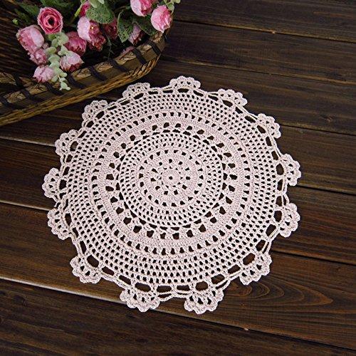 Dessous de Verre Yazi fait au crochet à la main, napperon rond en forme de fleur, en coton, pour table de maison, décoration de cuisine, de 15 cm