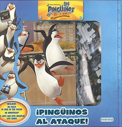 ¡Pingüinos al ataque! Caja regalo con libro con puzle gigante y minipóster: Cómic. ¡Con pegatinas!. Incluye tres historias tipo cómic. (Los pingüinos de Madagascar)