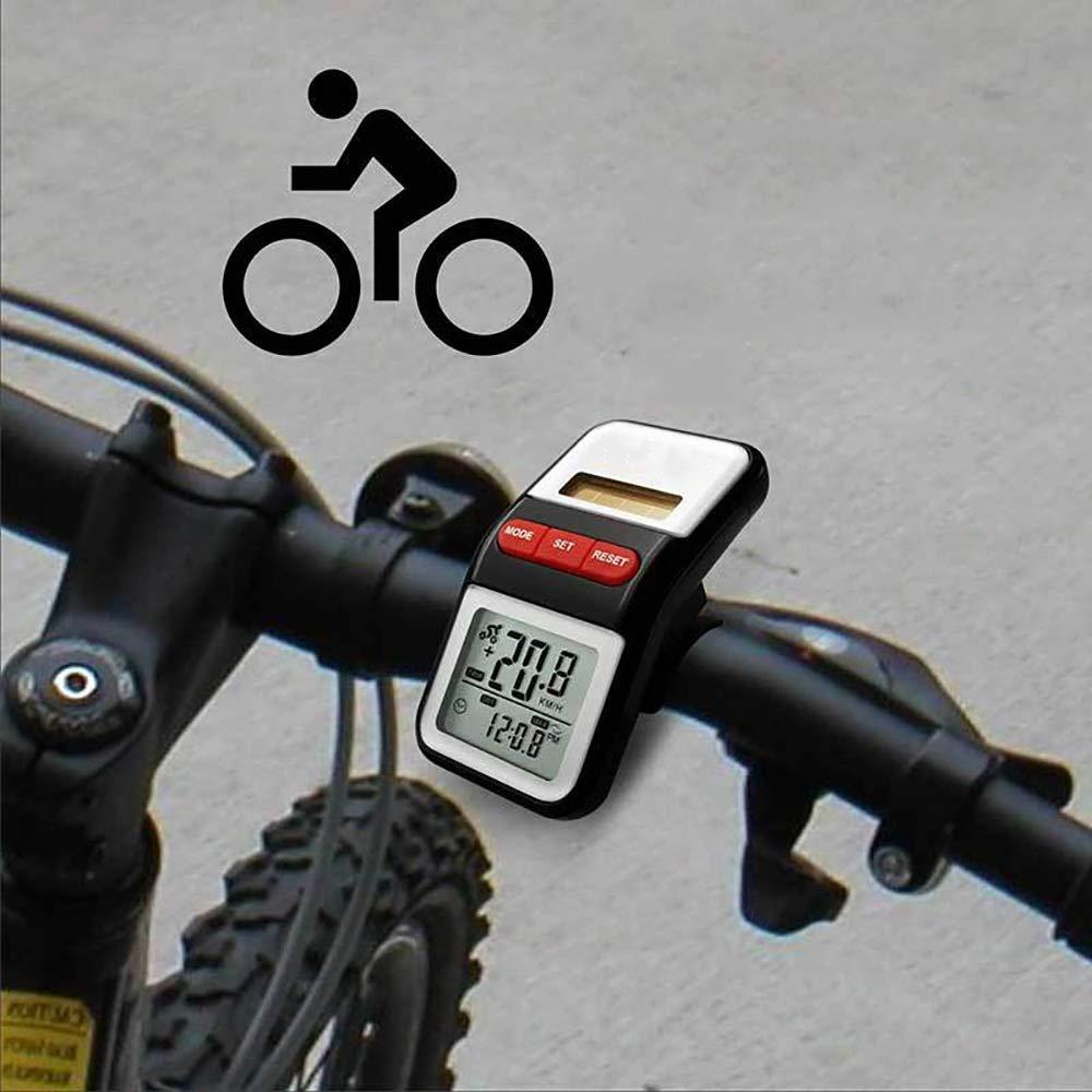 Kanqingqing-Sport Cuentakilómetros para Bicicleta Solar Dual Power ...