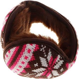 Dolity Knitted Foldable EarMuffs Fleece Lined Warm Winter Outdoor Ear Warmers