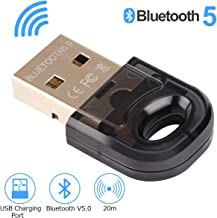 Adaptador USB Bluetooth 5.0 Bluetooth Dongle transmisor Receptor para PC portátil computadora computadora TV Bluetooth Altavoz Auriculares Windows 10 / 8.1 / 8 / 7 / XP / Vista