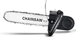 SUPPETS Chainsaw Bracket Set 11.5 Inch DIY Electric Chain Saw Converter Chainsaw Bracket Electric Angle Grinder Modification Electric Chain Saw Household Electric Saw Logging Saw