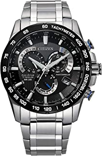 Citizen Men's PCAT Eco-Drive Chronograph Watch in Super Titanium, Silver, CB5908-57E