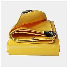 Geel zonnescherm dekzeil Outdoor Goederen Cover Doek Dubbelzijdig Waterdicht (Kleur: Geel, Maat: 2x 2m)