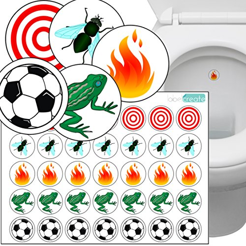 Toilet Thingies - Variety Pack of 35 Toilet Training Stickers Transparent...