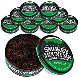 Smokey Mountain Herbal Snuff - Wintergreen - 10-Can Box - Nicotine-Free and Tobacco-Free