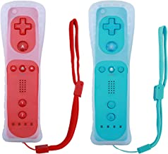 $32 » Lactivx Wii Remote Controller,Wireless Gesture Controller with Silicone Case and Wrist Strap for Wii Wii U Console (2 Pack...