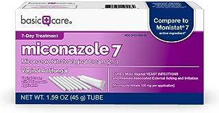 Basic Care Miconazole Nitrate Vaginal Cream 2%, Vaginal Antifungal, 7-Day Treatment