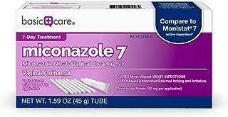 Basic Care Miconazole 7, Miconazole Nitrate Vaginal Cream (2%) & 7 Disposable Applicators