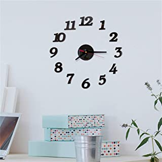 OTTATAT Wall Stickers for Bedroom Girls 2019,3D DIY Roman Numbers Acrylic Mirror Clock Home Decor Mural Decals Easy to Stick Birthday Home Gift for Lover Free Deliver
