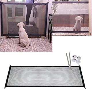 MTalk Magic Gate Portable Folding Safe Guard Install Anywhere for Dog Cat Pet Safety Gate for Hall Doorway Wide Tall, Fits Spaces Between 72cm to 120cm Wide