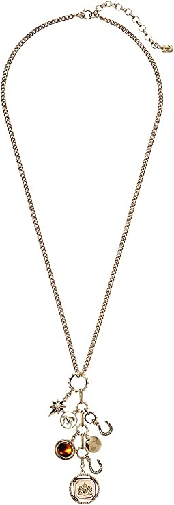"Tortoise 27"" Shaky Charm Necklace"