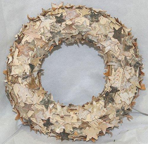 Corona Ghirlanda con stelle piccole di cortecchia. diam.24 cm