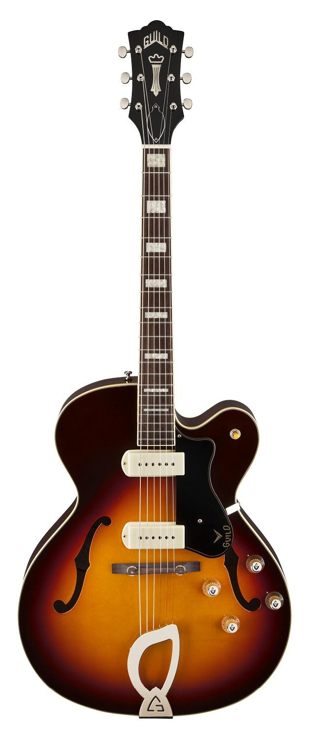 Cheap Guild X-175 Manhattan Hollow Body Electric Guitar with Case (Antique Burst) Black Friday & Cyber Monday 2019