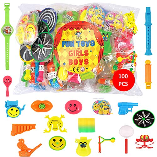 Easter Toy Favours Birthdays & Christmas Bags Class Prizes for Children Boys and Girls Ideal Slinkys for Party 96 Mini Smiley Rainbow Springs in Assorted Colours Party Loot Bag Fillers Toy