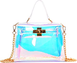 Holographic Transparent Retro Bag Women's Clear Chain Cross Body Bag Shoulder Bag