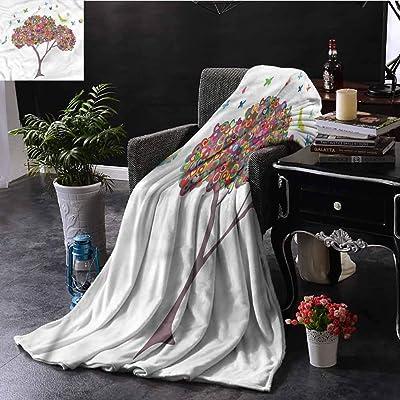蝶の寮のベッドのベビーベッド旅行ピクニックW60 XL50のベッドツリーの生活の木スローブランケット 150X200