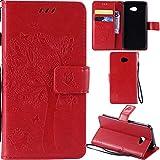 Ooboom® LG K5 Case Cat Tree Pattern PU Leather Flip Cover