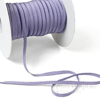 3 Yards of Vera 3/16'' Cotton & Viscose Petersham Grosgrain Ribbon, Wisteria, Made in Italy