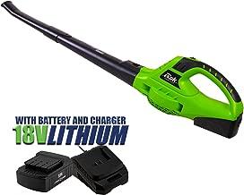 Blower Rok 18v Cordless PRO Leaf Grass Garden Blower 2 Speed Battery & Charger