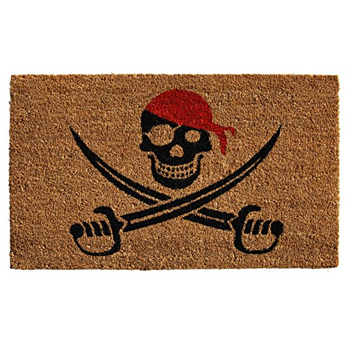 "Home & More 121211729 Pirate Doormat, 17"" x 29"" x 0.60"", Multicolor"