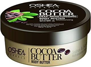 OSHEA Cocoa Butter Body Butter, Brown, 200 g
