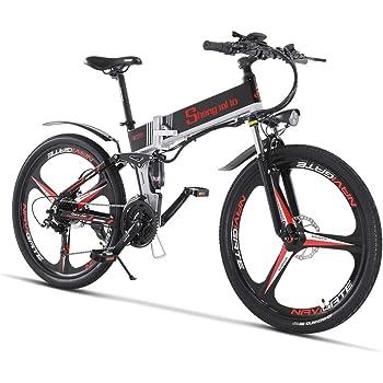 Bicicleta eléctrica 48V 350W Hombres Plegables Ebike 21 ...