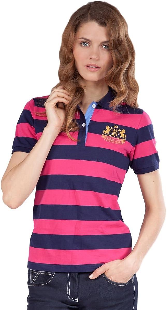 B Vertigo Sofia Ladies Pique Sleeve Shirt OFFicial shop High quality Short