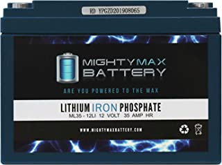 Mighty Max Battery 12V 35AH Lithium Replacement Battery for Yuasa NPC24-12 Brand Product