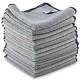 ELEXACLEAN Mikrofasertücher Auto Bad Küche (Grau, 12 St, 30x30cm) Universal Putztücher für...