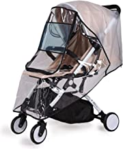 Bemece Stroller Rain Cover Universal + Mosquito Net (2-Piece Set), Baby Travel Weather Shield …