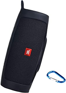 PAIYULE Silicone Case Compatible for JBL Charge 4 Portable Waterproof Wireless Bluetooth Speaker ... Black