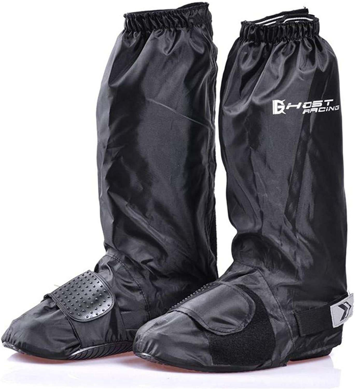 Windproof shoes Cover Womens Mens Outdoor Sports Cycle Rainstorm Snowstorm Motorcycle Bike Garden Rain Gear Flat Overshoes Waterproof Overshoes Rain shoes Covers Black Anti-slip Reusable Zippers Boot Co