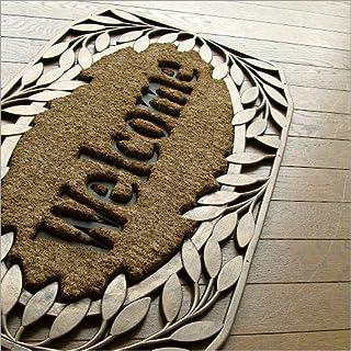 玄関マット 屋外 外用 Welcome(ウェルカム) ラバーマット コイヤーマット ココヤシ 天然素材 おしゃれ ドアマット 77×46cm エントランスマット F [sik7114]