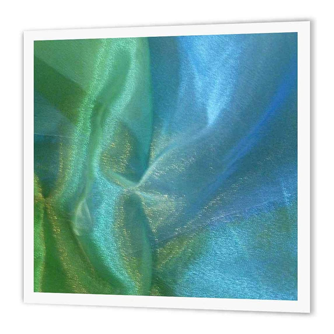 3dRose ht_14477_2 Blue Green Chiffon-Iron on Heat Transfer Paper for White Material, 6 by 6-Inch