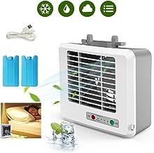 LIDAUTO Aire Acondicionado portátil con Aire Acondicionado, Mini refrigerador, Escritorio, Espacio Personal para el hogar de Verano