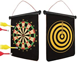 Target Board, Womdee Dart Board Double Sided Target Dart Board Durable Dart Board Indoor Outdoor Board Games for Kids and Adults, Safe Darts for Kids, Magnetic Dartboard, Reversible Dart