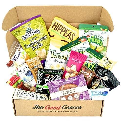 Healthy VEGAN Snacks Care Package: Plant-based, Non-GMO, Vegan Jerky