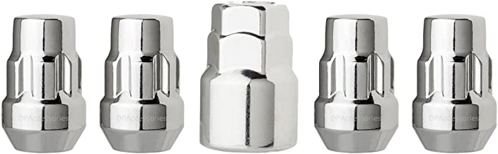 DPAccessories LCB3L2HC-CH04LK4 Chrome Wheel Locks 1/2-20 Closed End Bulge Acorn 3/4 & 13/16 Locking Lug Nuts Wheel Lock Set