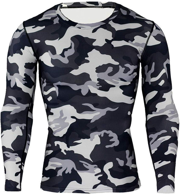 LANPAO Men's Cool Dry Skin Fit Long Sleeve Compression Shirt