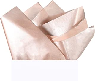 """UNIQOOO 40 Sheets Premium Metallic Rose Gold Champagne Gold Tissue Gift Wrap Paper Bulk - Recyclable Gift Wrapping Accessory - Perfect for Gift Bags, Wedding, Party, DIY Crafts - 20"""" X 26"""""""