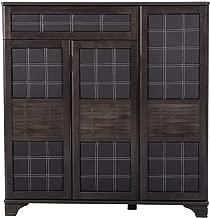 HomeTown Clayton Engineered Wood Shoe Storage Rack in Wenge Color