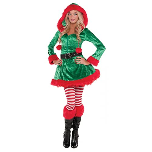 79035e5d8d New Womens Christmas Sassy Elf Ladies Fancy Dress Party Costume